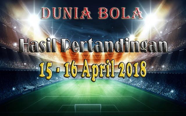 Hasil Pertandingan Sepak Bola Tanggal 15 - 16 April 2018