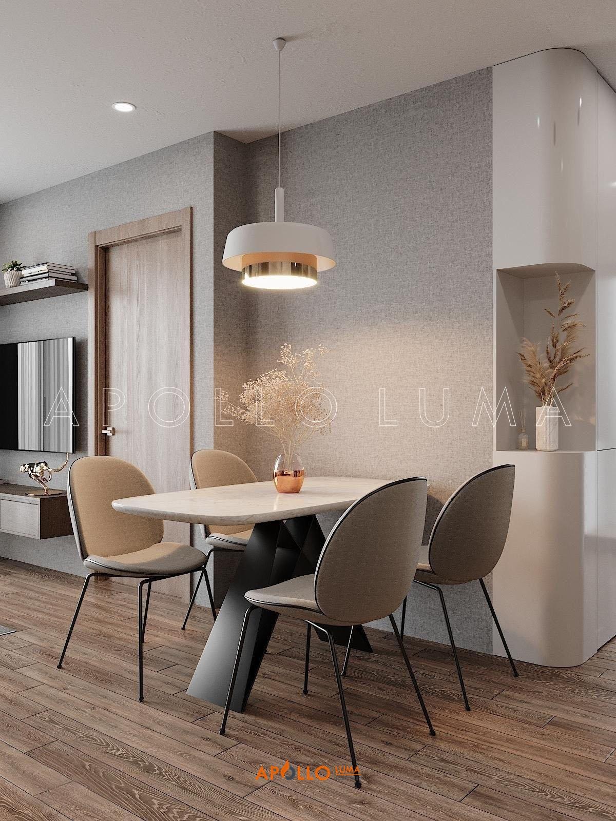 Thiết kế nội thất căn 2PN+2WC (62m2) S1.10-15 Vinhomes Ocean Park Gia Lâm