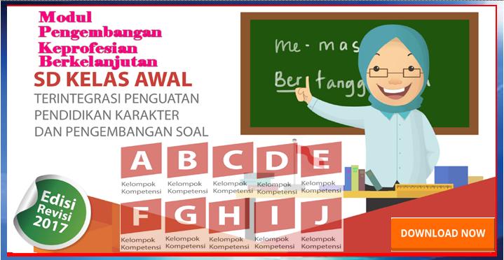 Free Download Modul Pkb Guru Sd Kelas Awal Hasil Revisi