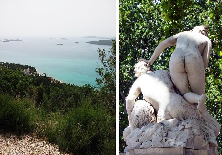 Kroatische Kueste und Statue