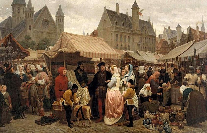 Uma feira franca em Gand. Félix de Vigne (1806-1862), Musée des Beaux-Arts de Gand