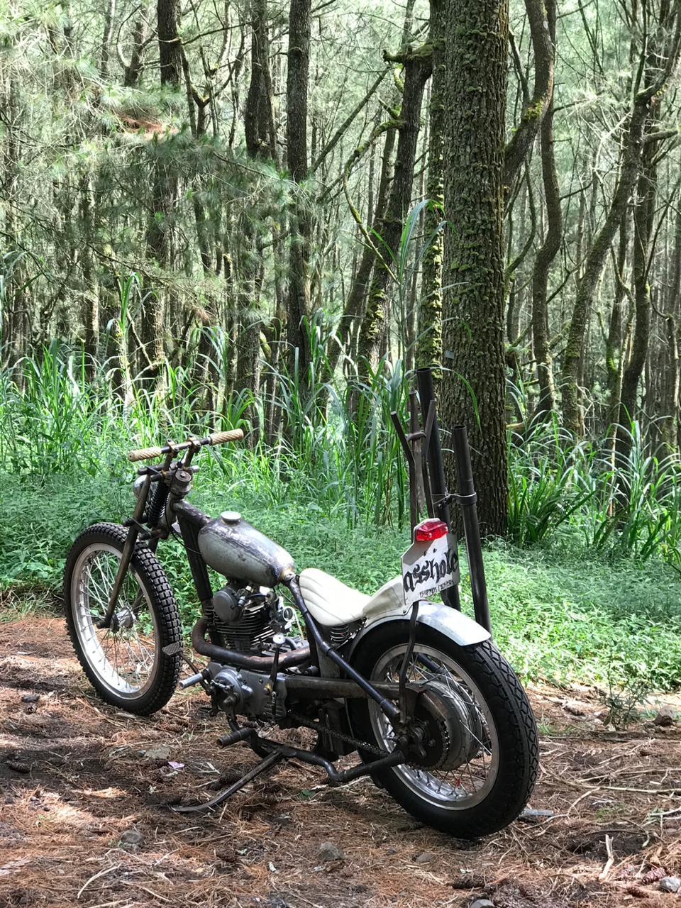 Bikin Motor Custom dari Kawasaki Binter Merzy