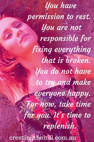 You have permission to rest. You are not responsible for fixing everything. #quotes