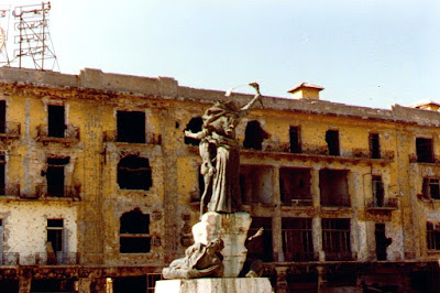 Martyrs Square during the war
