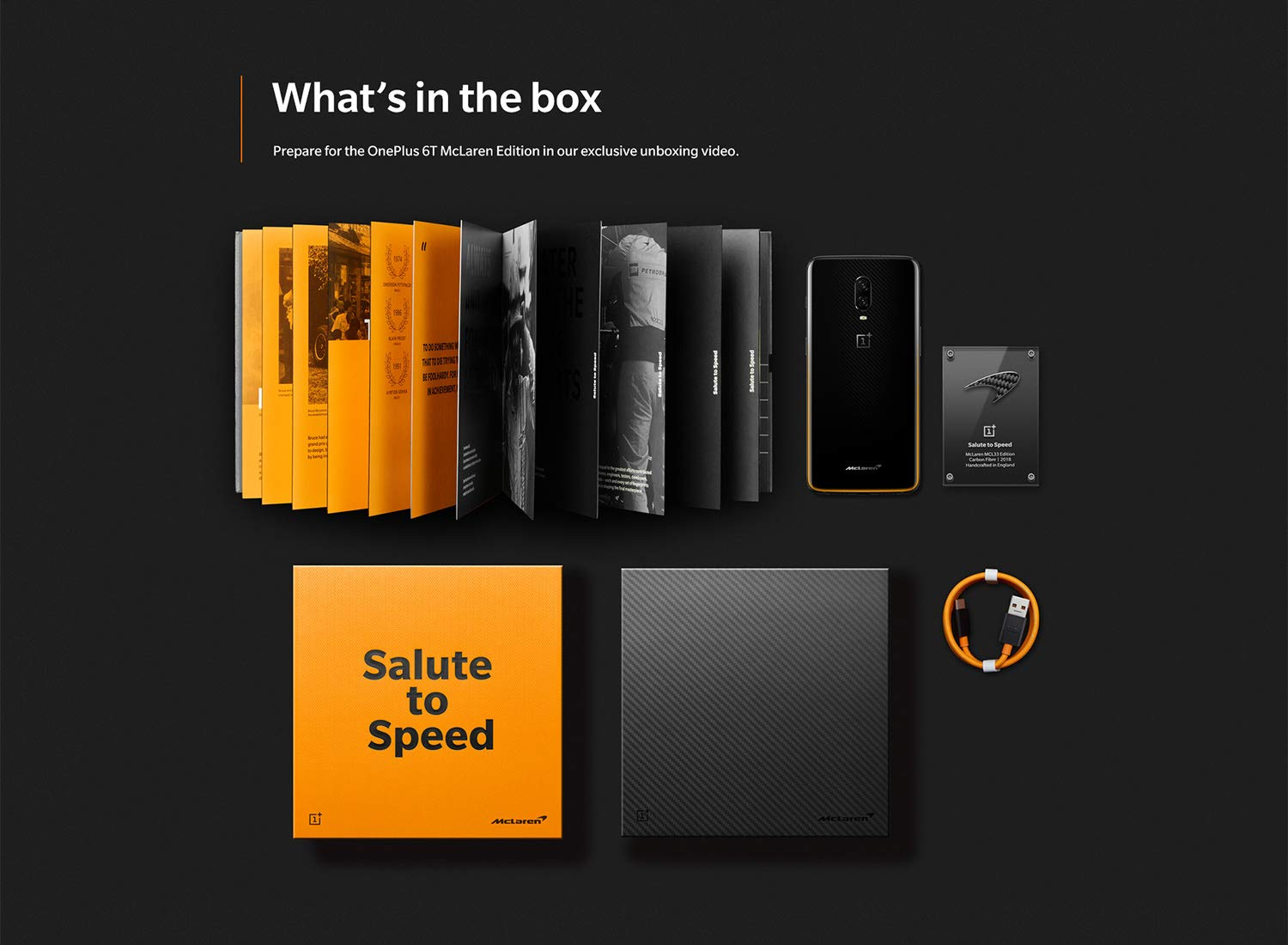 OnePlus 6T McLaren Edition Box www.tech1english.com