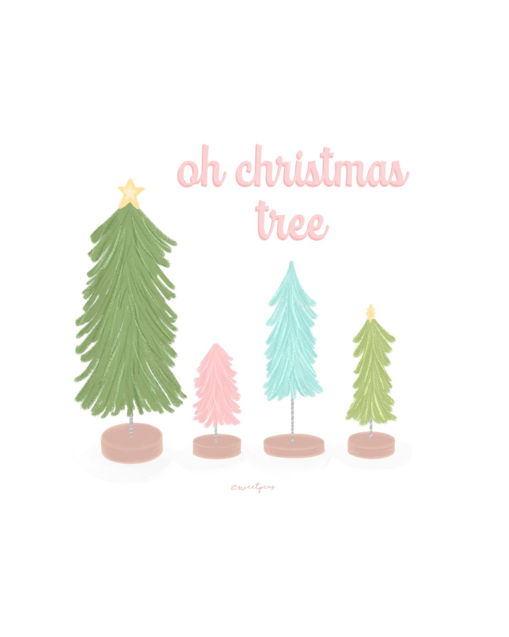 Oh Christmas Tree Illustration by 25 Sweetpeas
