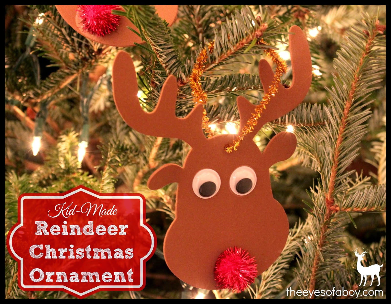 Easy & Fun Kid-Made DIY Reindeer Christmas Ornament - The ...