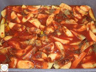 Preparare cartofi la cuptor cu bulion reteta,