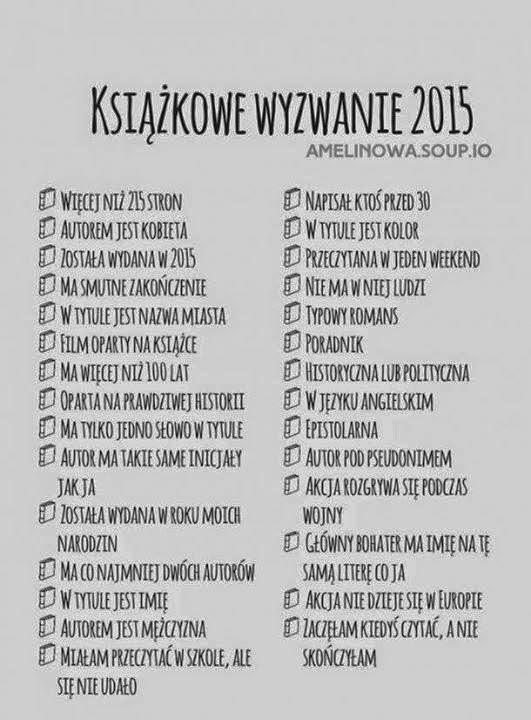 Chwile Rozkoszy Nowe Wyzwanie Książkowe Na Rok 2015