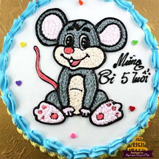 Bánh-sinh-nhật-hình-con-chuột-dễ-thương