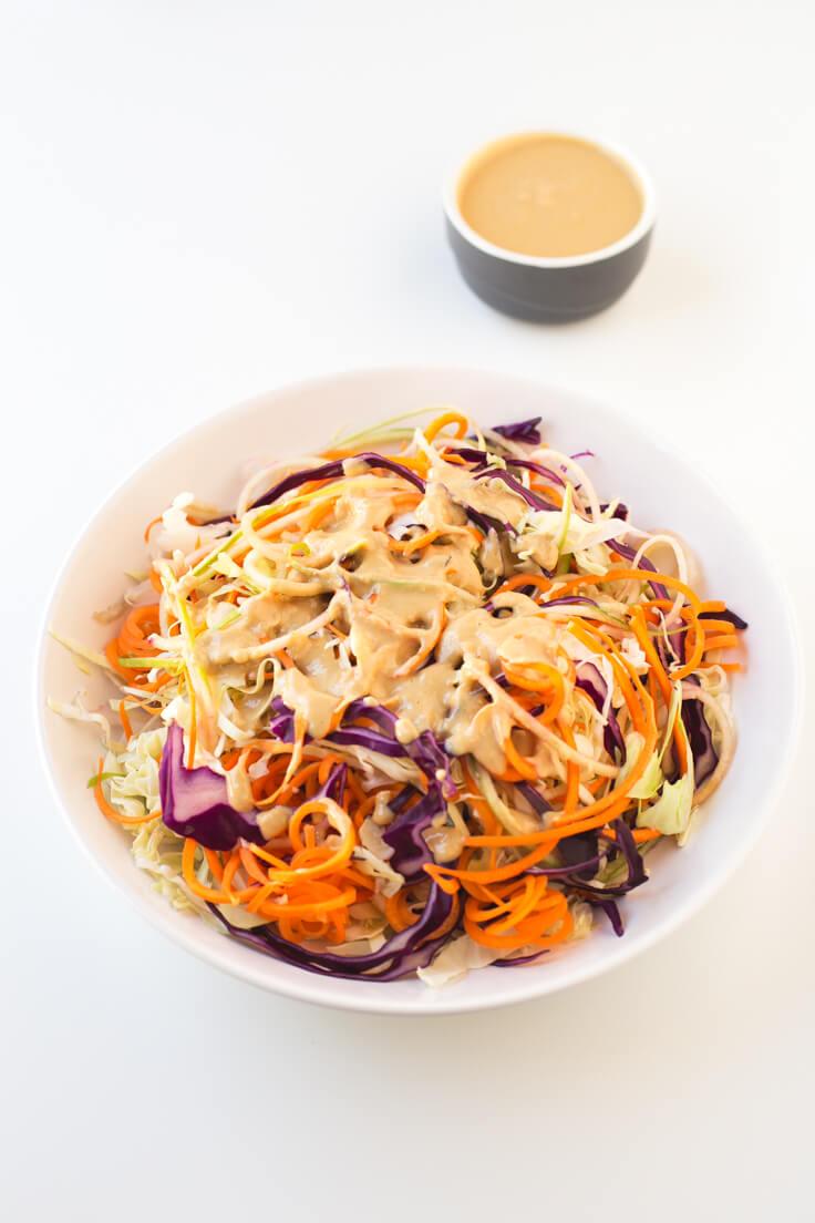 Vegan coleslaw salad | danceofstoves.com #vegan