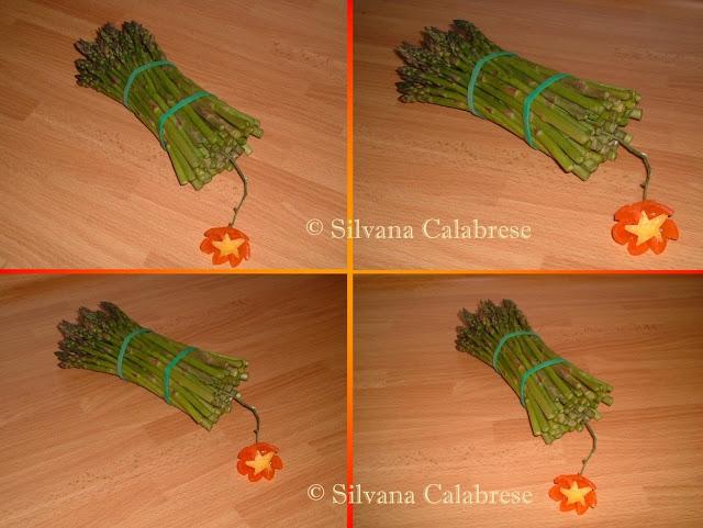 Intagli frutta verdura Bomba dinamite asparagi Silvana Calabrese - Blog