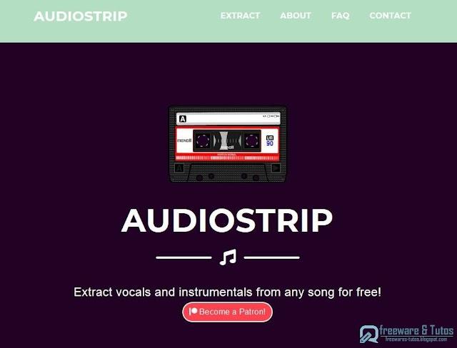 AudioStrip : un outil en ligne pour séparer et extraire les parties vocales et instrumentales des chansons (mp3, YouTube)