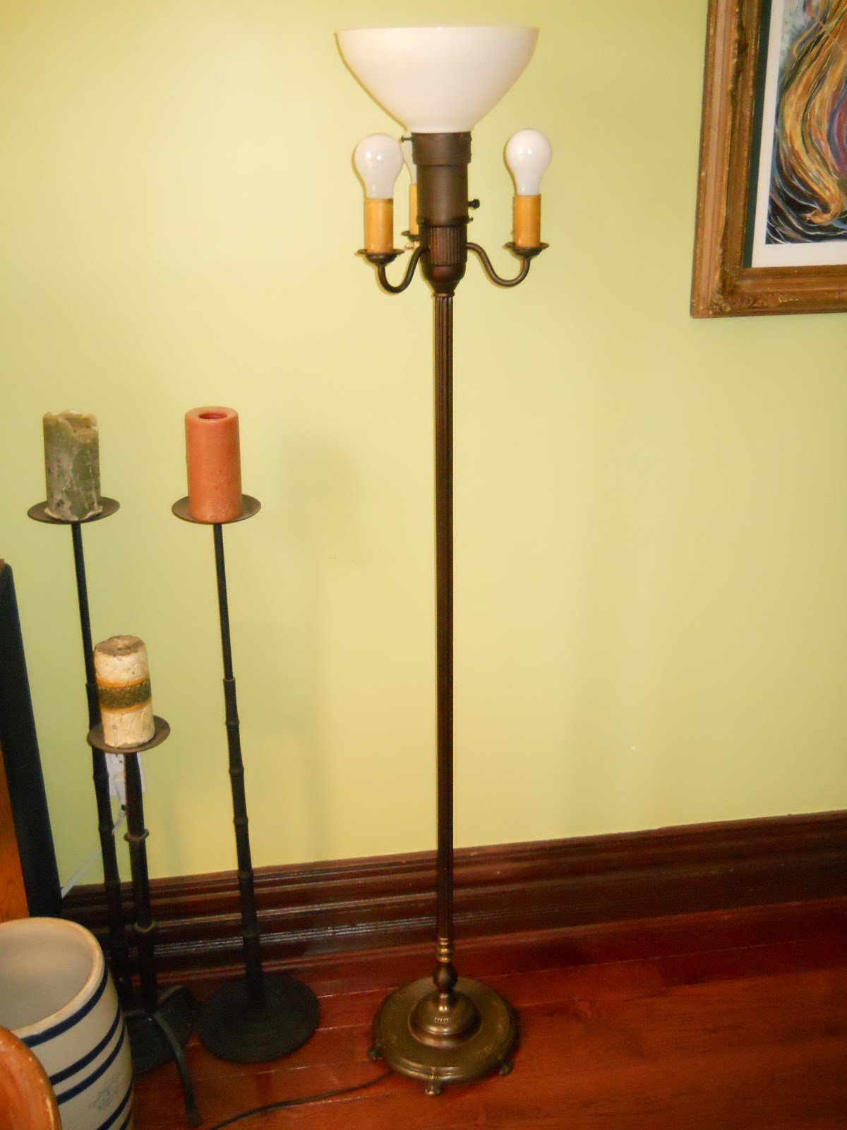 Church Key Vintage Pairpoint Dolphin Lamp Antique Floor