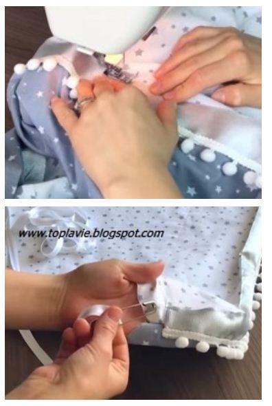 تعلم كيفية خياطة مهد او لوندو لرضيع