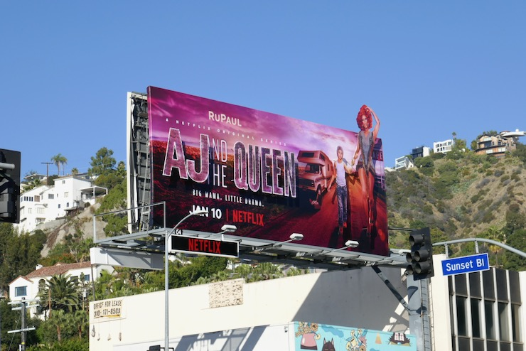 AJ and the Queen Netflix series billboard