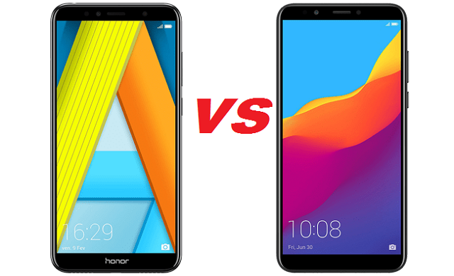 مقارنة huawei y6-2018-VS-honor-7A