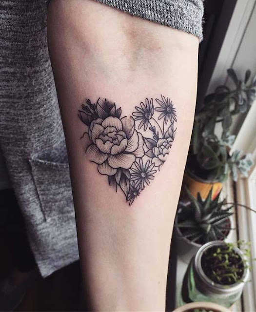 tatuagens de coração para as meninas