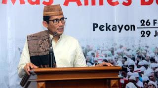 Sandiaga Uno Dilabeli Ulama, Bukti Krisisnya 'Legalitas' Kubu Prabowo-Sandi
