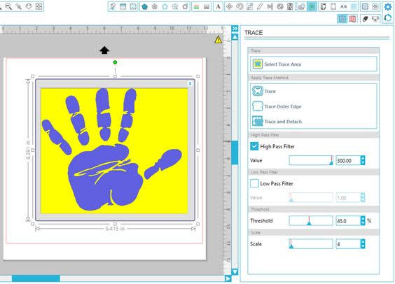 how to trace in silhouette, silhouette trace image, how to trace on silhouette cameo, inversion tracing, invert effect