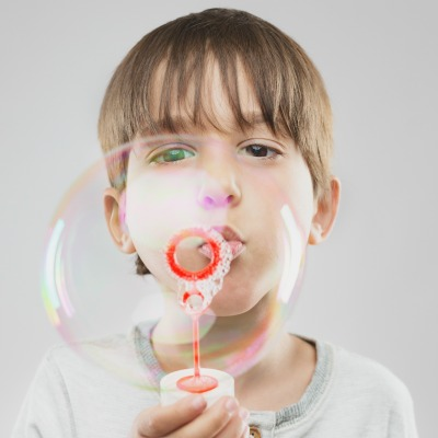 FUN KID PROJECT: Make SUPER bubbles!  My kids had so much fun with this!