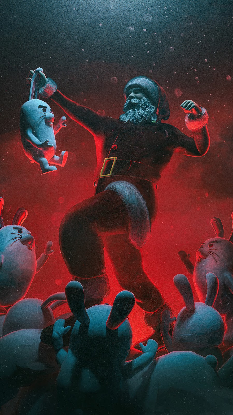 easter rabbit santa claus christmas