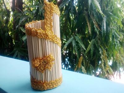 Vas Bunga Bahan Tusuk Sate [Kode : A08]