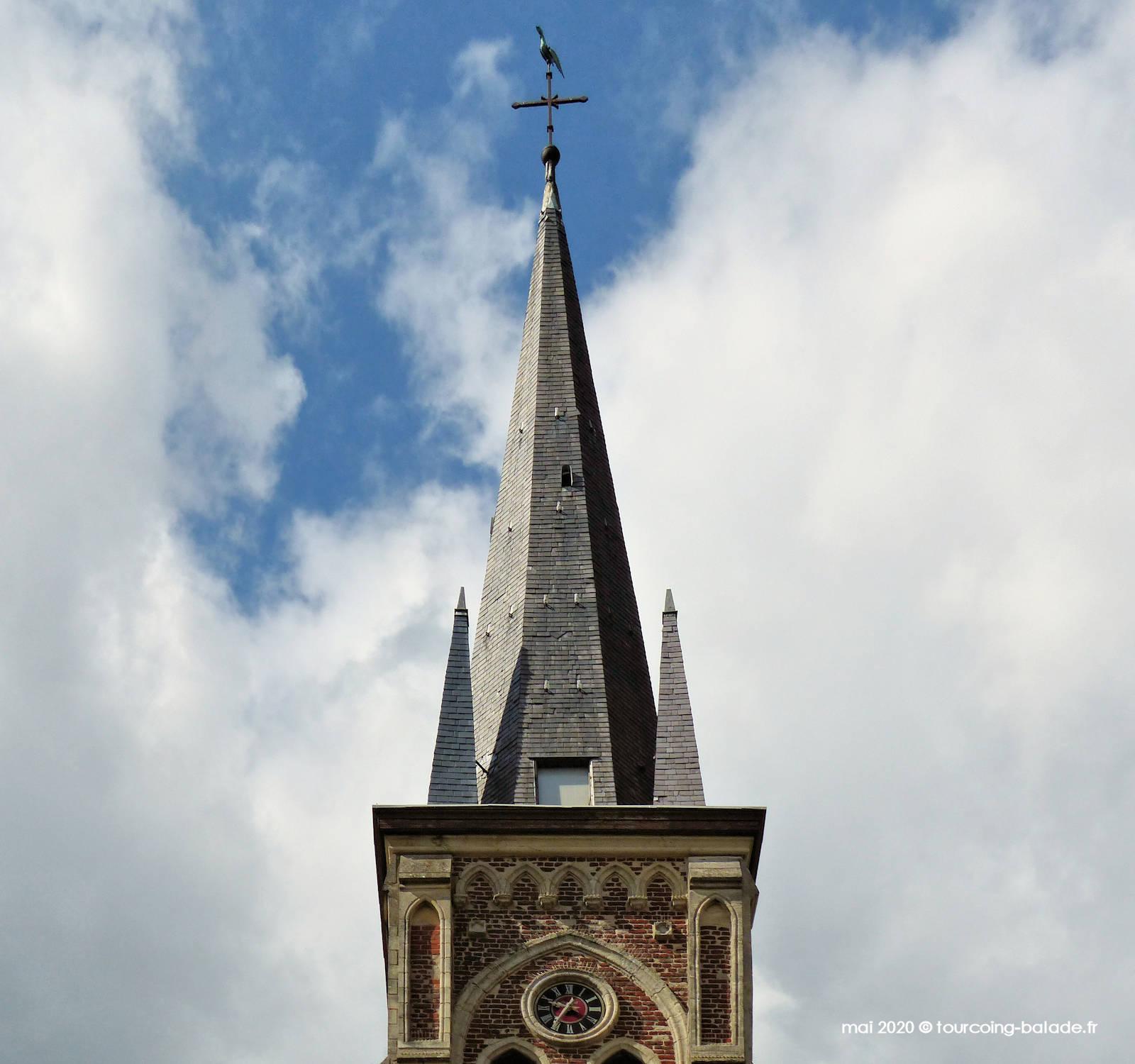 Flèche de l'Église Sainte Rita, Vendeville, 2020.