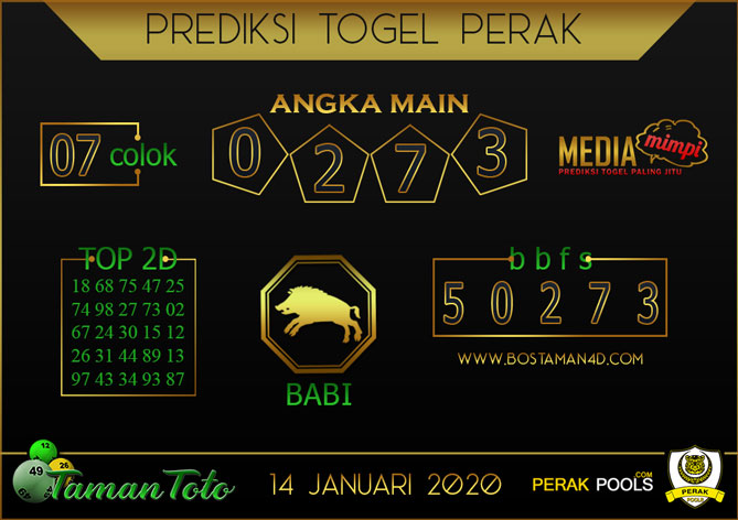 Prediksi Togel PERAK TAMAN TOTO 14 JANUARI 2020
