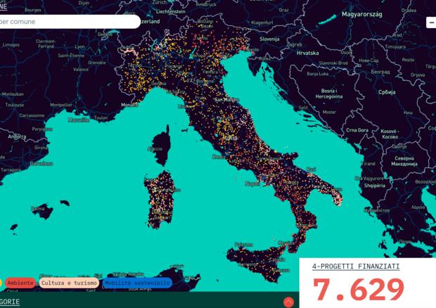 """Online la nuova mappa interattiva """"Monithon Project Finder """"per localizzare i progetti finanziati in Italia dall'Ue negli ultimi sette anni"""