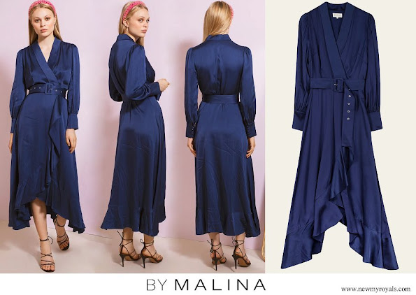 Princess Sofia wore By Malina florence dress deep blue