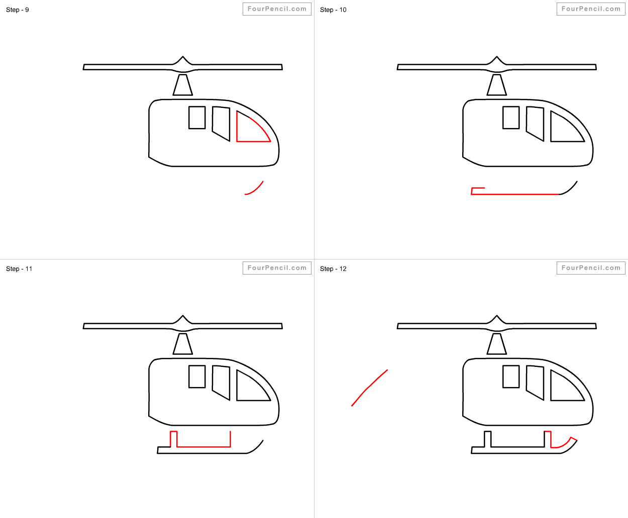 Fpencil How To Draw Helicopter For Kids Step By Step