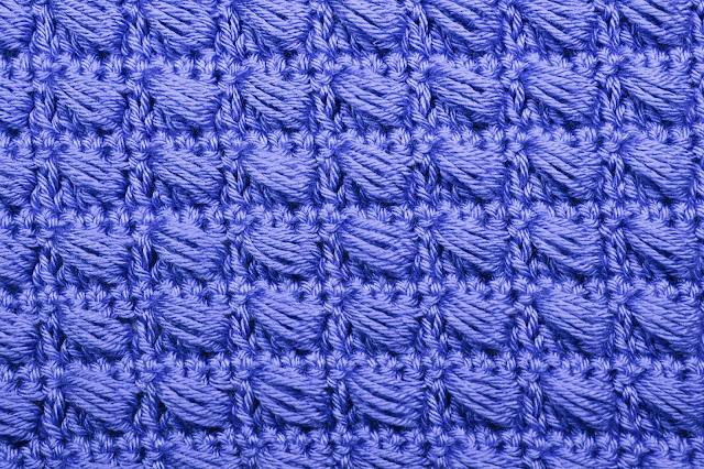 6 - Crochet Imagen Puntada conbinada con punto puff 2 a crochet y ganchillo por Majovel Crochet