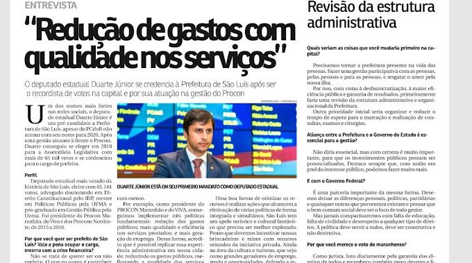 CONFIRA ENTREVISTA DE DUARTE JR NO JORNAL O IMPARCIAL