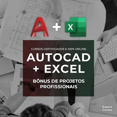 Curso de AutoCAD e Curso de Excel