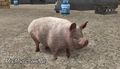gta sa mod animais fazenda farm animals pig porco