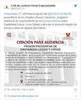 Este jueves será la audiencia de prisión preventiva de Luis Castañeda