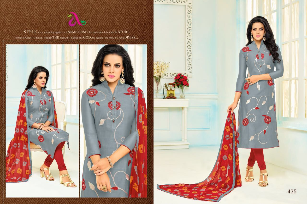 Dairy milk vol 19-New Arrival Chanderi Cotton Dress Material