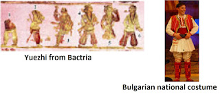 Облекла на юеджите и българите/ Costumes of Yuezhi and Bulgarians