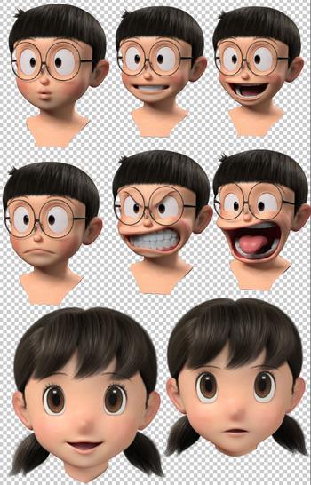 Download Mentahan Kepala Nobita Png Bahan Mentahan