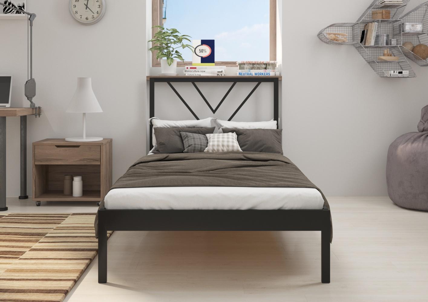 Łóżko metalowe Sidney (wzór 5) (80-100 cm)