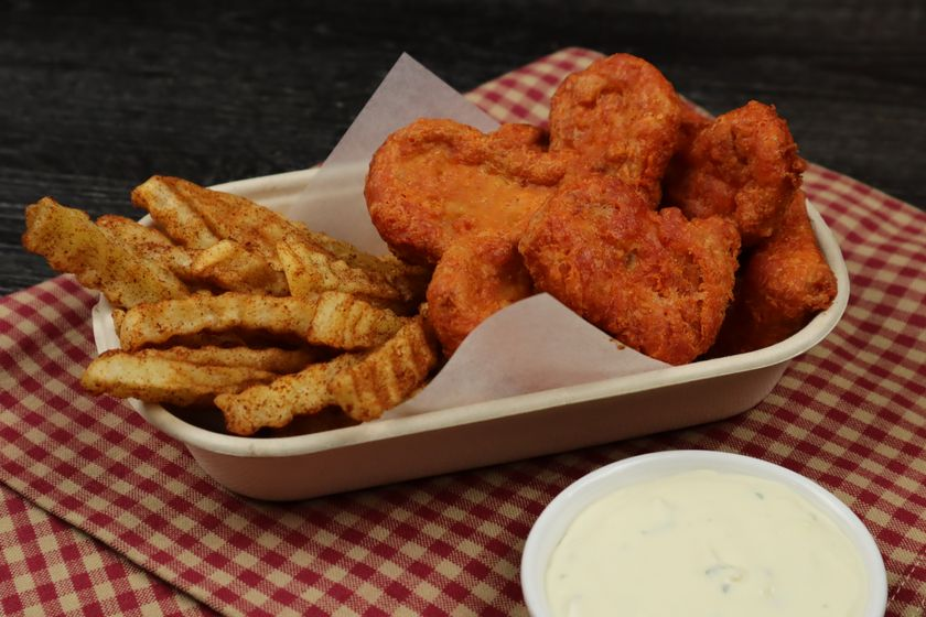 Spicy chicken nuggets and barbecue fried recipe