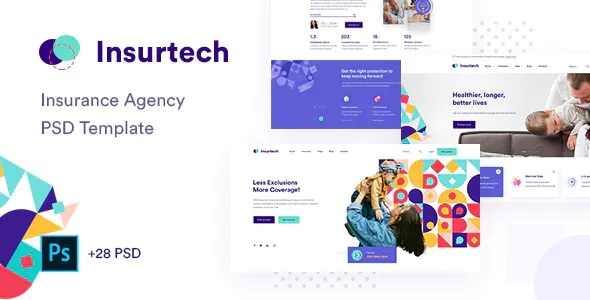 Best Insurance Agency PSD Template