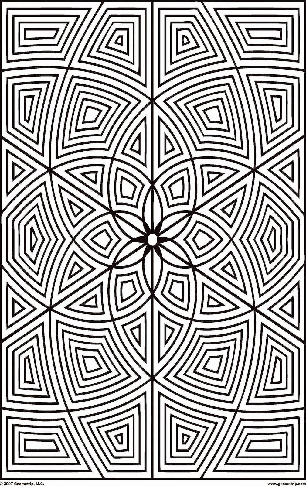 Geometric Coloring Sheets | Free Coloring Sheet