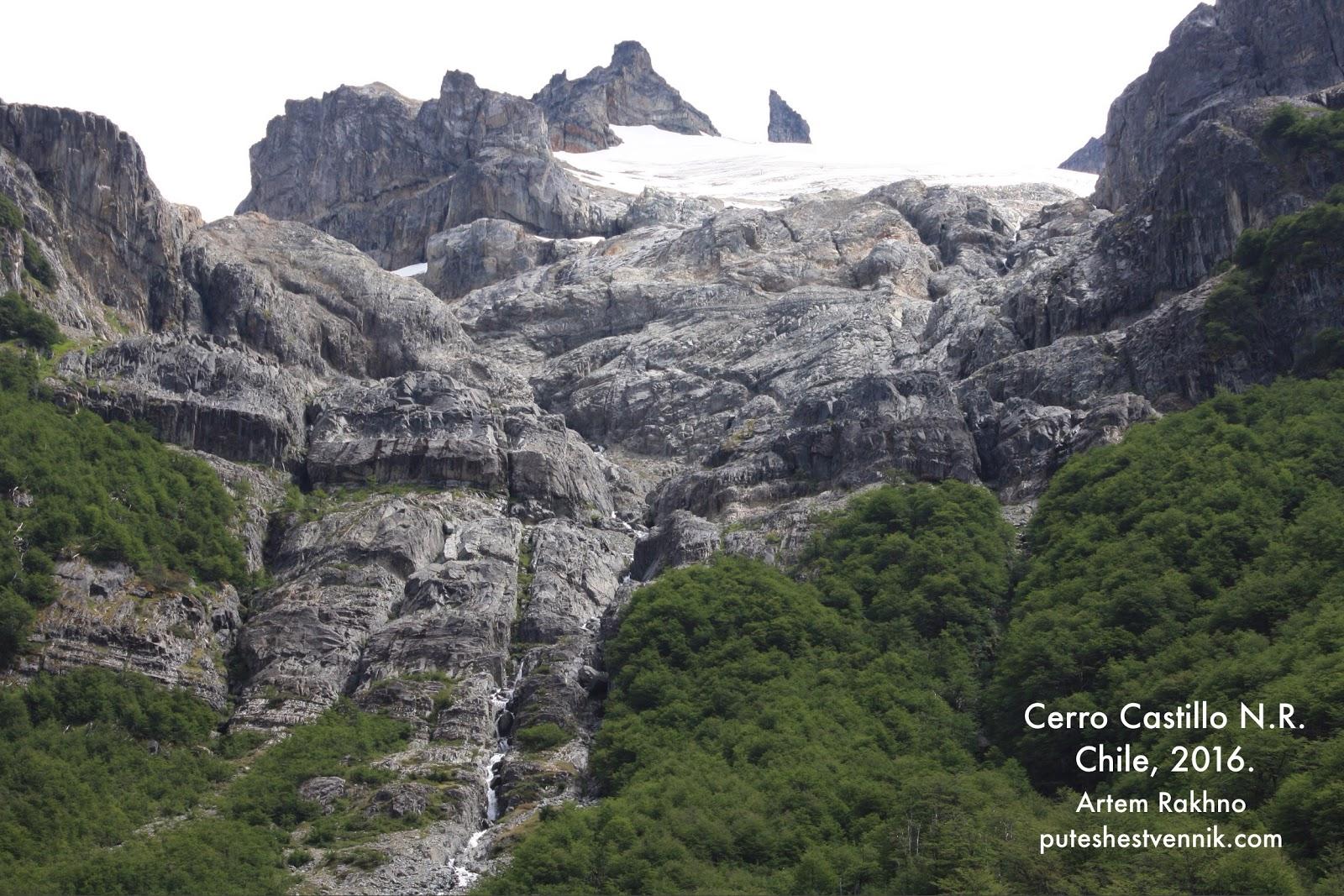 Снег в горах в Серро-Кастильо