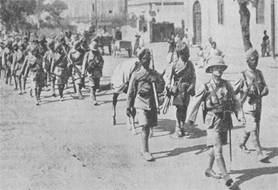 Indian men of British colony marching
