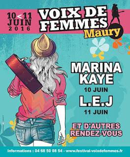 L'affiche du festival voix de femmes à Maury