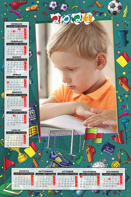 Calendario inedito scuola a foglio singolo 30x45