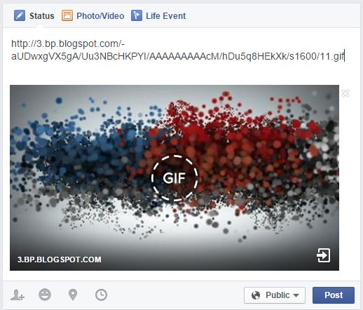 how to share gif images in facebook trick videoadept