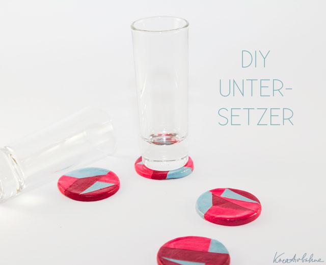 untersetzer für gläser basteln